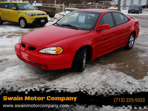 1999 Pontiac Grand Am for sale at Swain Motor Company in Cherokee IA