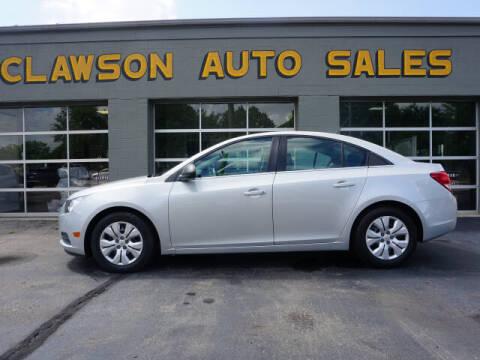 2012 Chevrolet Cruze for sale at Clawson Auto Sales in Clawson MI