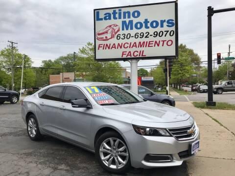 2017 Chevrolet Impala for sale at Latino Motors in Aurora IL