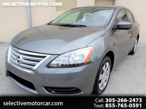 2015 Nissan Sentra for sale at Selective Motor Cars in Miami FL