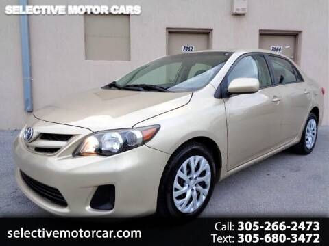 2012 Toyota Corolla for sale at Selective Motor Cars in Miami FL