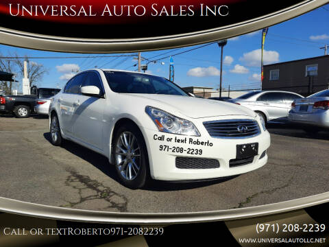 2009 Infiniti G37 Sedan for sale at Universal Auto Sales Inc in Salem OR