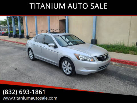 2010 Honda Accord for sale at TITANIUM AUTO SALE in Houston TX