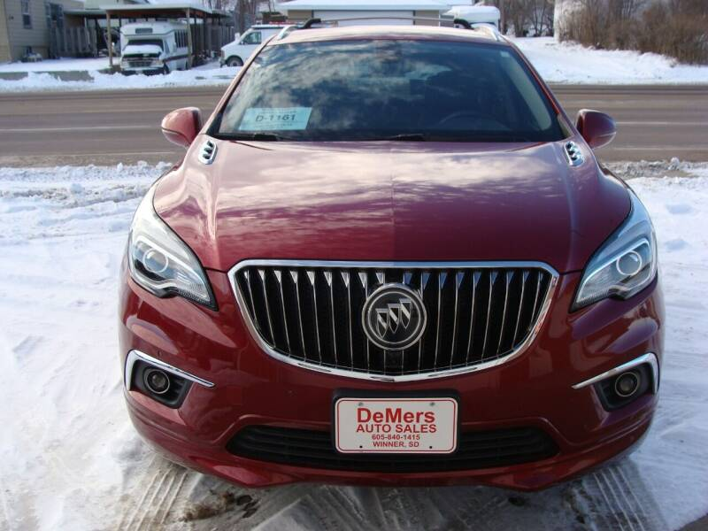 2017 Buick Envision for sale at DeMers Auto Sales in Winner SD