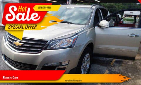 2014 Chevrolet Traverse for sale at Klassic Cars in Lilburn GA