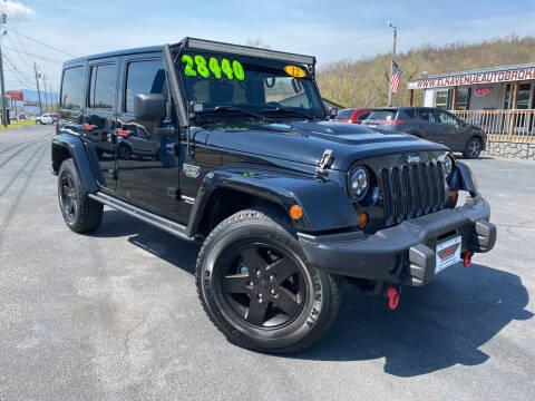 2012 Jeep Wrangler Unlimited for sale at Elk Avenue Auto Brokers in Elizabethton TN