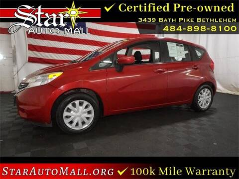 2015 Nissan Versa Note for sale at STAR AUTO MALL 512 in Bethlehem PA