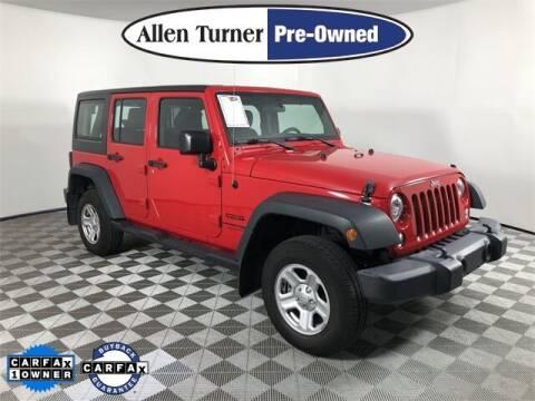2018 Jeep Wrangler JK Unlimited for sale at Allen Turner Hyundai in Pensacola FL