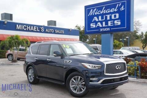 2020 Infiniti QX80 for sale at Michael's Auto Sales Corp in Hollywood FL