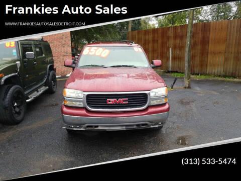 2003 GMC Yukon for sale at Frankies Auto Sales in Detroit MI