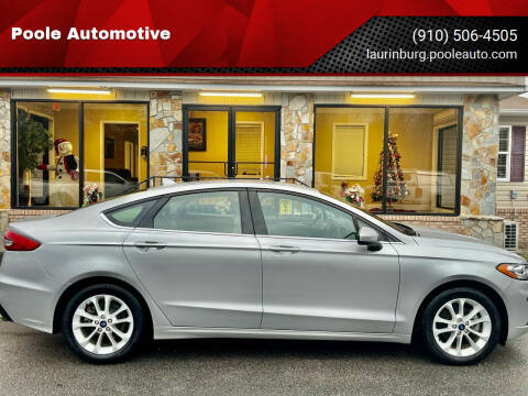 2019 Ford Fusion for sale at Poole Automotive in Laurinburg NC