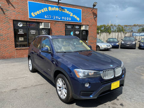 2016 BMW X3 for sale at Everett Auto Gallery in Everett MA