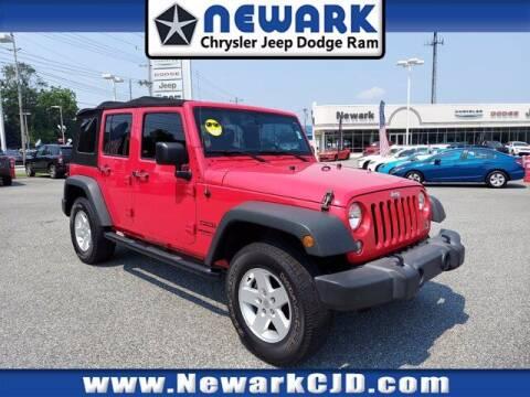 2017 Jeep Wrangler Unlimited for sale at NEWARK CHRYSLER JEEP DODGE in Newark DE