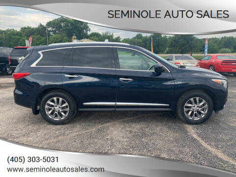 2015 Infiniti QX60 for sale at Seminole Auto Sales in Seminole OK