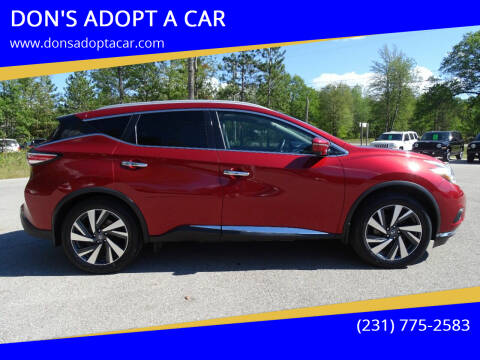 2016 Nissan Murano for sale at DON'S ADOPT A CAR in Cadillac MI