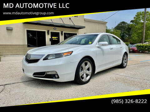 2013 Acura TL for sale at MD AUTOMOTIVE LLC in Slidell LA