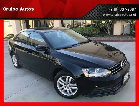 2018 Volkswagen Jetta for sale at Cruise Autos in Corona CA
