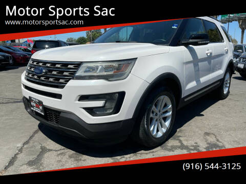 2017 Ford Explorer for sale at Motor Sports Sac in Sacramento CA
