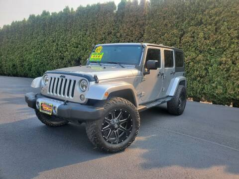 2016 Jeep Wrangler Unlimited for sale at Yaktown Motors in Union Gap WA