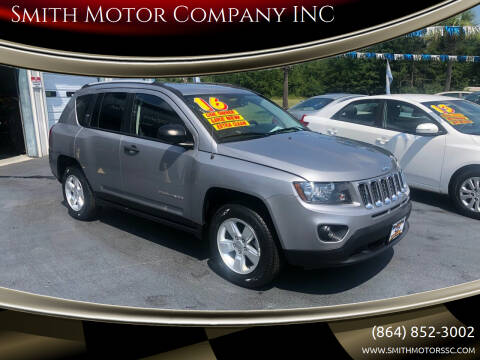 2016 Jeep Compass for sale at Smith Motor Company INC in Mc Cormick SC