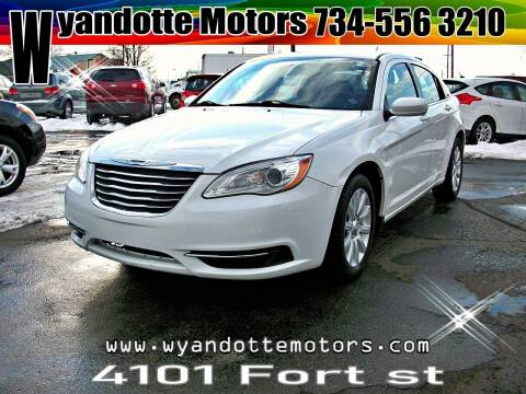 2012 Chrysler 200 for sale at Wyandotte Motors in Wyandotte MI