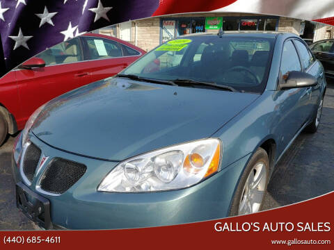 2009 Pontiac G6 for sale at Gallo's Auto Sales in North Bloomfield OH
