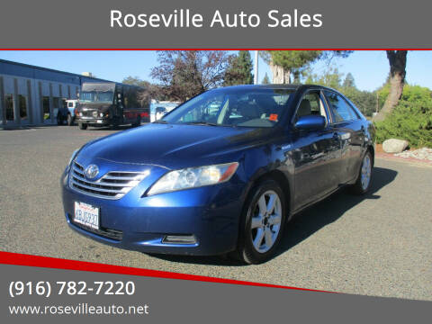 2007 Toyota Camry Hybrid for sale at Roseville Auto Sales in Roseville CA