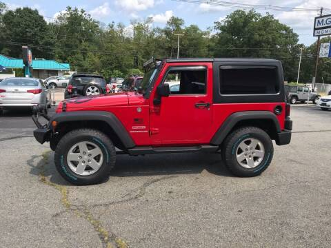 2012 Jeep Wrangler for sale at M G Motors in Johnston RI