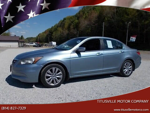 2011 Honda Accord for sale at Titusville Motor Company in Titusville PA