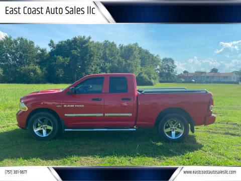 2012 RAM Ram Pickup 1500 for sale at East Coast Auto Sales llc in Virginia Beach VA