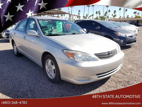 2002 Toyota Camry for sale at 48TH STATE AUTOMOTIVE in Mesa AZ