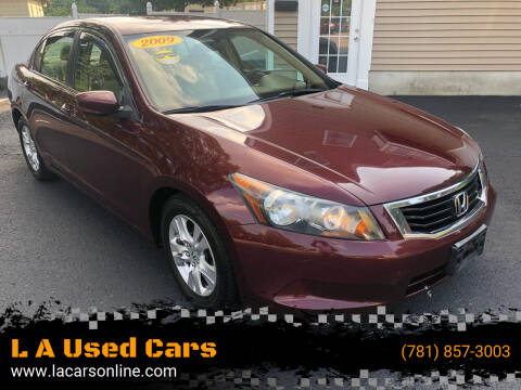 2009 Honda Accord for sale at L A Used Cars in Abington MA