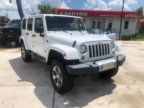 2017 Jeep Wrangler Unlimited for sale at Empire Automotive Group Inc. in Orlando FL