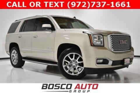 2015 GMC Yukon for sale at Bosco Auto Group in Flower Mound TX