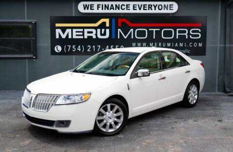 2012 Lincoln MKZ for sale at Meru Motors in Hollywood FL
