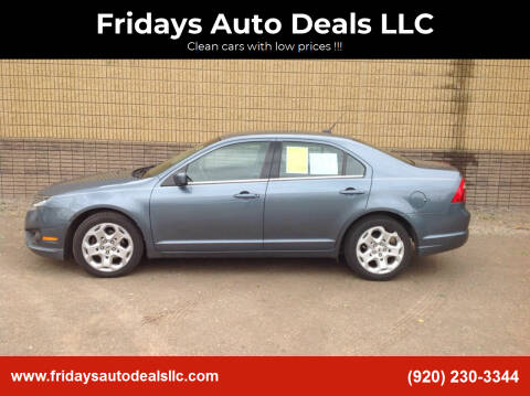 2011 Ford Fusion for sale at Fridays Auto Deals LLC in Oshkosh WI
