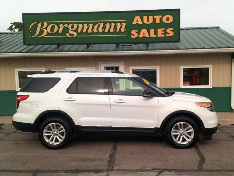 2014 Ford Explorer for sale at Borgmann Auto Sales in Norfolk NE