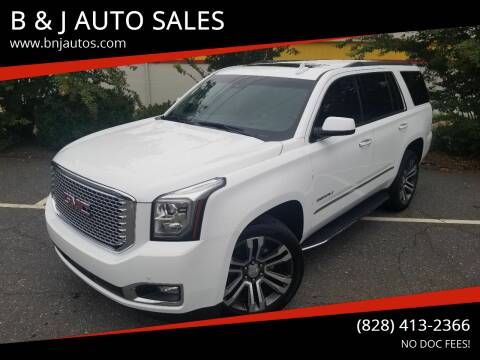 2017 GMC Yukon for sale at B & J AUTO SALES in Morganton NC