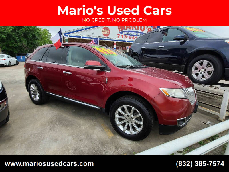 2013 Lincoln MKX for sale at Mario's Used Cars - South Houston Location in South Houston TX