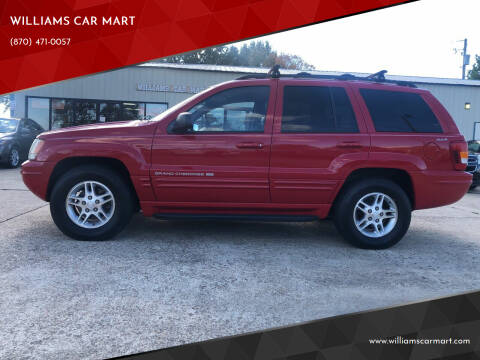 1999 Jeep Grand Cherokee for sale at WILLIAMS CAR MART in Gassville AR