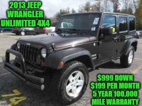 2013 Jeep Wrangler Unlimited for sale at D&D Auto Sales, LLC in Rowley MA