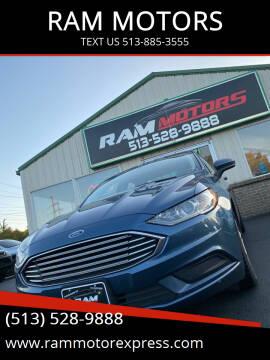 2018 Ford Fusion for sale at RAM MOTORS in Cincinnati OH