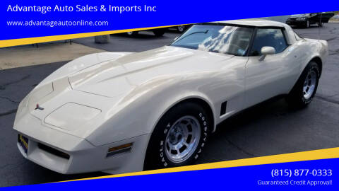 1981 Chevrolet Corvette for sale at Advantage Auto Sales & Imports Inc in Loves Park IL
