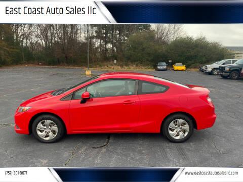 2013 Honda Civic for sale at East Coast Auto Sales llc in Virginia Beach VA