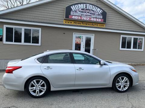 2016 Nissan Altima for sale at Home Towne Auto Sales in North Smithfield RI