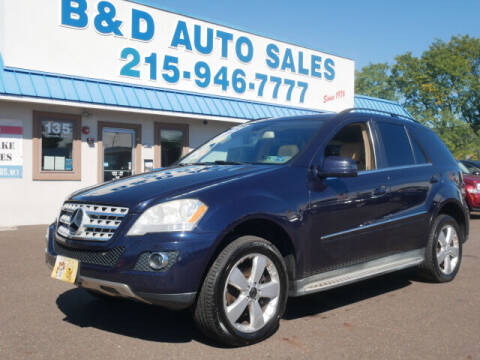 2011 Mercedes-Benz M-Class for sale at B & D Auto Sales Inc. in Fairless Hills PA