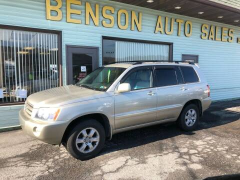 2002 Toyota Highlander for sale at Superior Auto Sales in Duncansville PA
