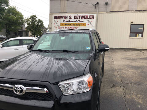2010 Toyota 4Runner for sale at Berwyn S Detweiler Sales & Service in Uniontown PA