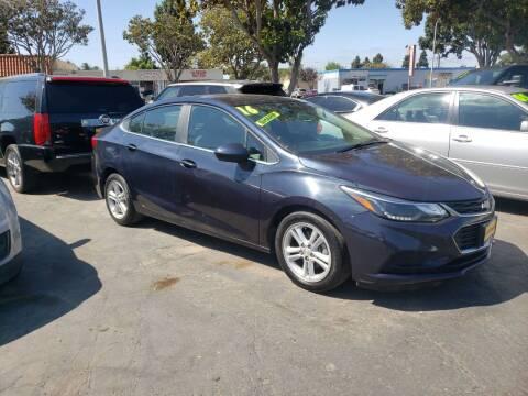 2016 Chevrolet Cruze for sale at L & M MOTORS in Santa Maria CA