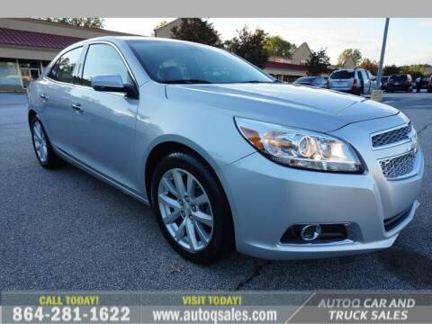 2013 Chevrolet Malibu for sale at Auto Q Car and Truck Sales in Mauldin SC